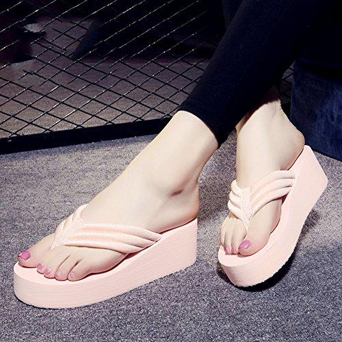 Mujeres Señoras Sandalias Flip flops Mujer de verano resbaladizo Sandalias impermeables de fondo grueso Sandalias de la personalidad de la manera con los tamaños Cómodo ( Color : 1003 , Tamaño : 36 ) 1004