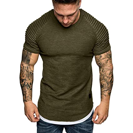 92e4fc00 Amazon.com: YKARITIANNA Fashion Men's Summer Pleats Slim Fit Raglan Short  Sleeve Pattern Top Blouse 2019 Summer Hot Sale: Arts, Crafts & Sewing
