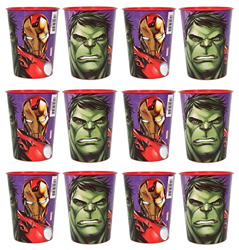 New Movie Lot of 12 Avengers 16oz Party Plastic Cup ~Party Favor Supplies~ (Avengers Party Favours)