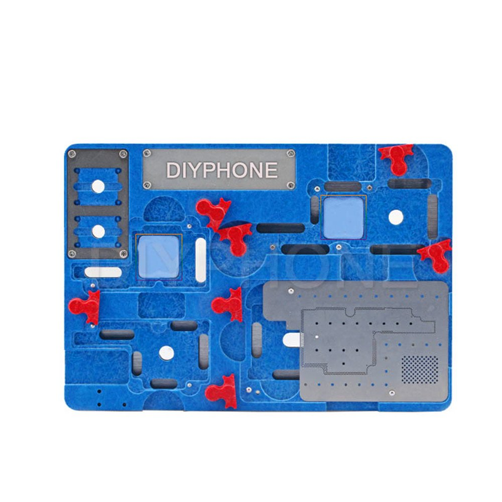 VIPFIX High Precision BGA Reballing Stencil Jig Fixture High Heat Resistant Phone Motherboard Holder Fixture Phone Motherboard Clamp Holder for iPhone X Position Repair