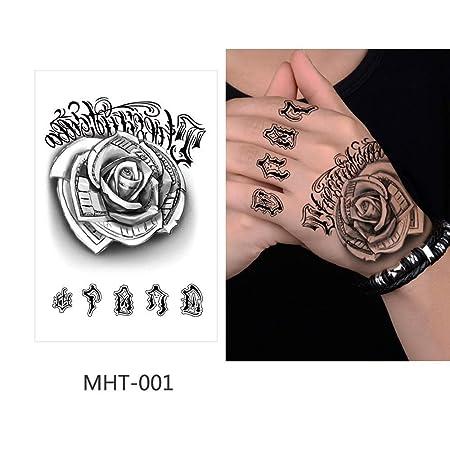 adgkitb 5pcs Tatuaje Temporal Pegatina Tatuaje Falso Flor Tatuaje ...