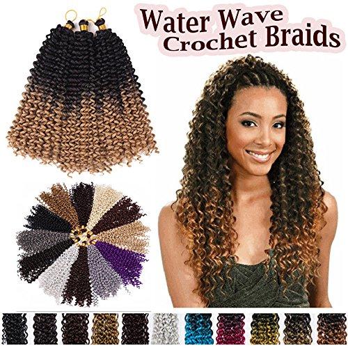 Water Wave Crochet Braids Synthetic Weave Braiding Hair Bulk Extensions Hair Bundles Afro Kinky Twist Braids Dreadlocks for Women 1pack- coffee - Delivery Usps In Australia