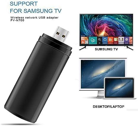 ZUKABMW - Adaptador WiFi USB Compatible con Samsung TV, 802.11ac 2.4 GHz y 5 GHz de Doble Banda inalámbrica USB Adaptador WiFi para Samsung Smart TV: Amazon.es: Informática