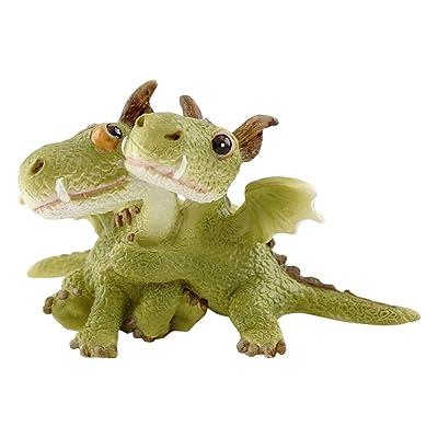 Top Collection Miniature Fairy Garden and Terrarium Mini Dragons Hugging Figurine: Garden & Outdoor