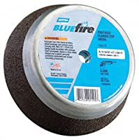 """4"""" Type 11 Zirconia Alumina Flaring Cup Grinding Wheel, 5/8""""-11 Arbor, 2"""" Thick, 16 Grit, 9070 Max."""