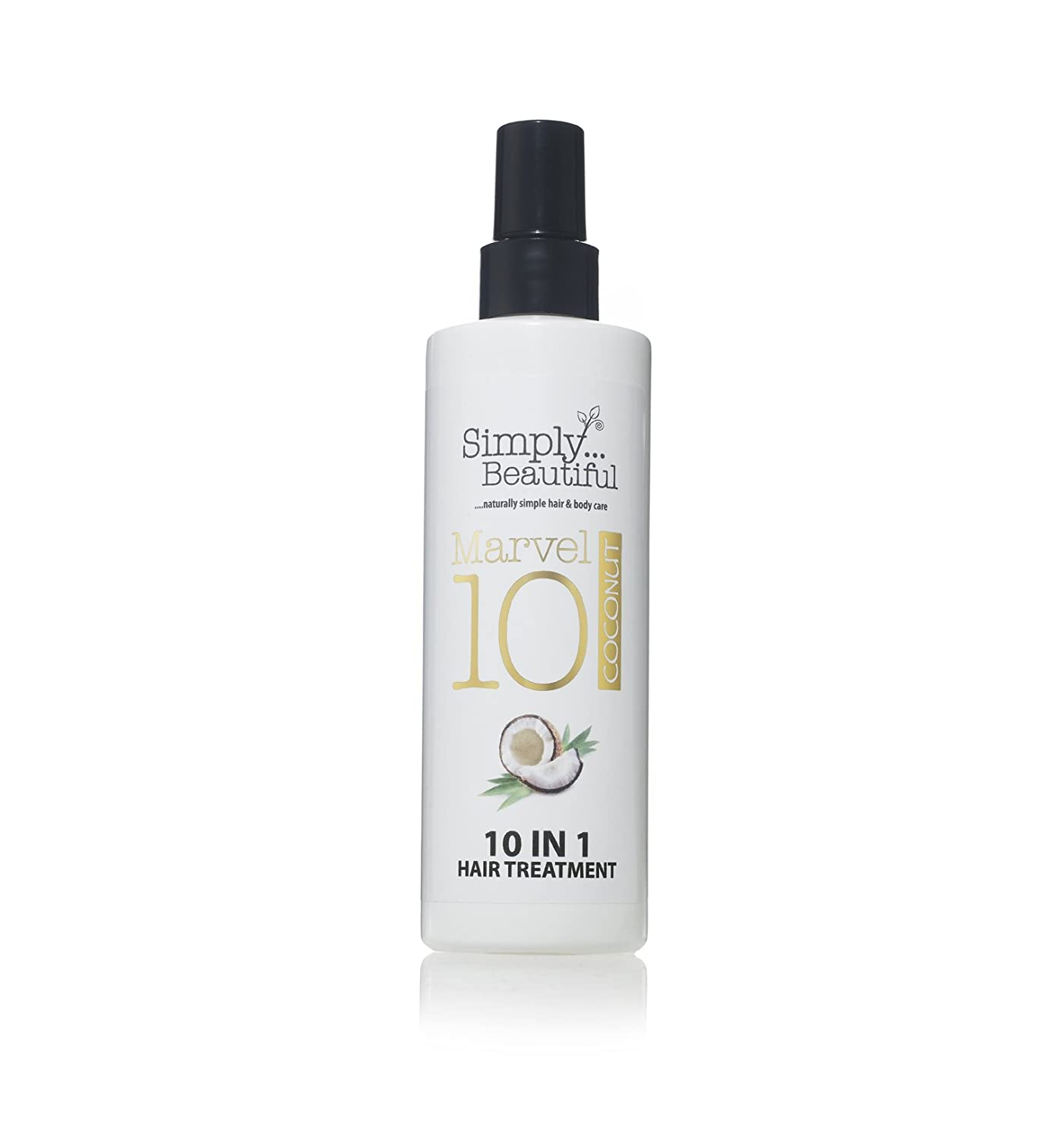 Coconut Heat Protection Spray and Damaged Hair Repair Treatment, 10 Amazing Treatments in 1 Bottle - 250ml Second Glance Beauty