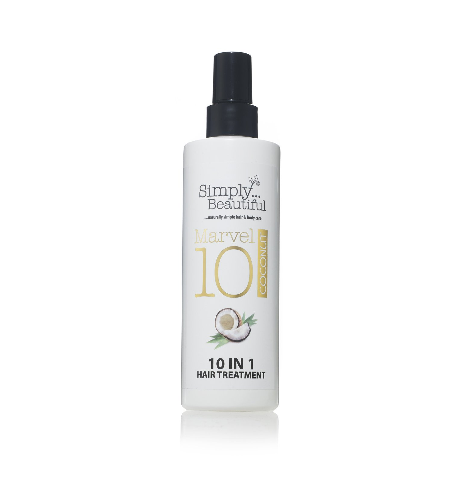 Coconut Heat Protection Spray and Damaged Hair Repair Treatment, 10 Amazing Treatments in 1 Bottle - 250ml