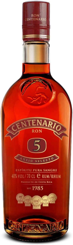 Centenario Ron Añejo Selecto 5 Años - 700 ml: Amazon.es ...