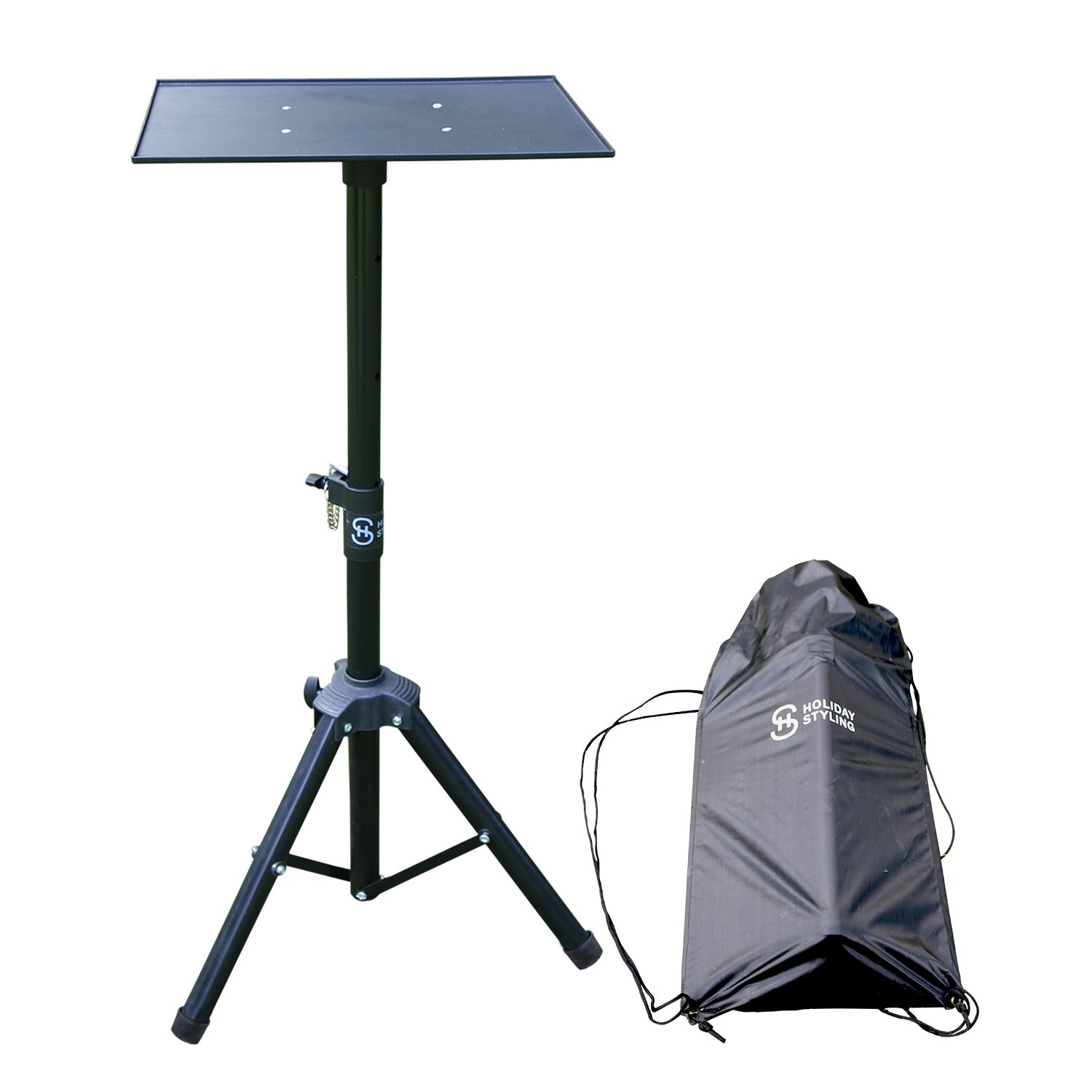 """Laptop Projector Tripod Stand – Adjustable Table With Sturdy Base – Portable Set With Storage Bag 30"""" – 44"""""""