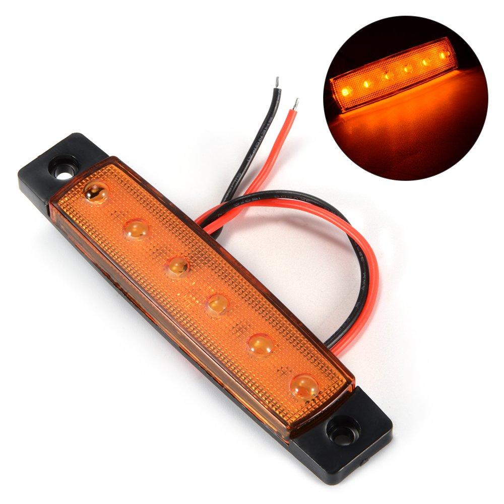 XCSOURCE/® 10pcs 6 LED /Ámbar Side Marker luz del remolque Luz de las luces de indicador de la l/ámpara trasera para el autob/ús del cami/ón RV Cabinas RV Camiones SUV MA1098