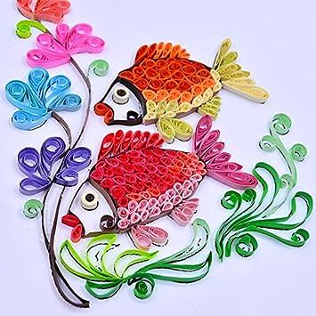rungao 260pc 26/de papel para filigranas Color DIY papel Decor Regalo de alivio de la presi/ón