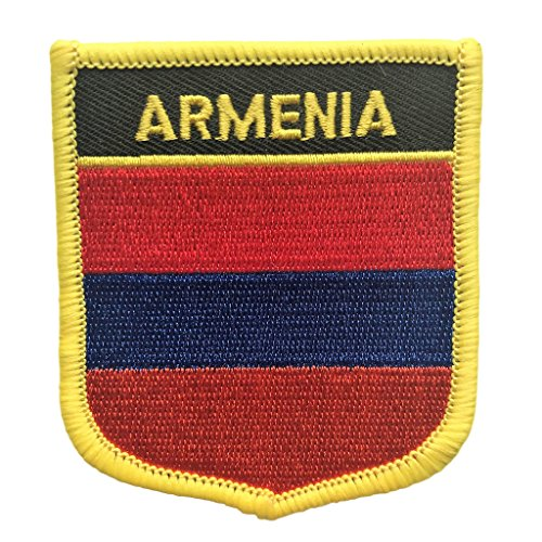 "Armenia Flag Patch/International Iron On Travel Patches (Armenian Crest, 2.75"" x 2.35"")"