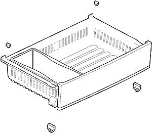 LG AJP73594505 Refrigerator Freezer Drawer Assembly Genuine Original Equipment Manufacturer (OEM) Part