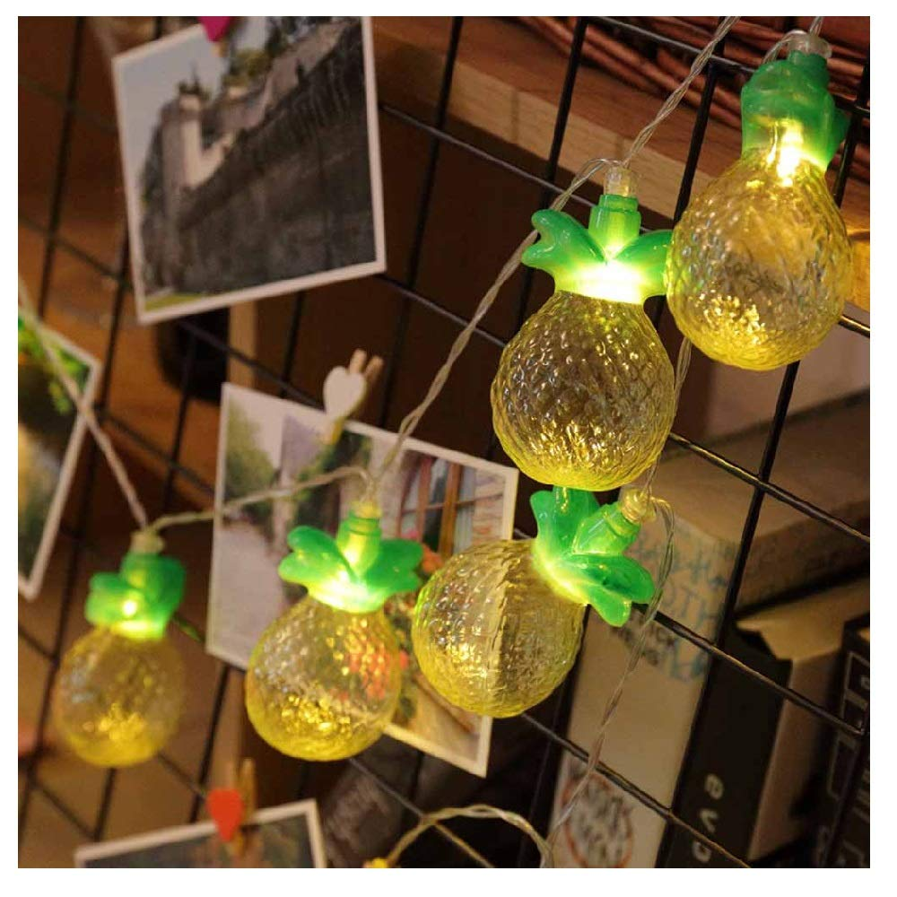 MOVEmen Light String Pineapple Fruits Fairy Lights Lantern 10 LEDs Wedding Party Decor Balcony Lawn Gazebo LED String Light Energy Saving Color Light Pendant Lamp Night Light Crystal Light Table Lamp