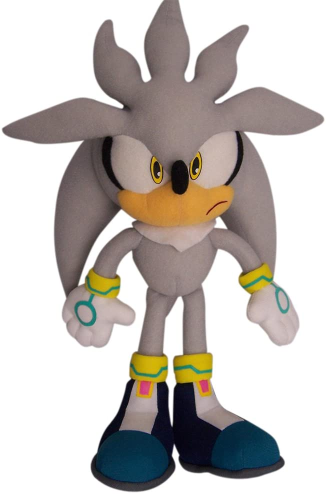 """Great Eastern GE-8960 Sonic The Hedgehog 13"""" Plush Doll, Silver"""
