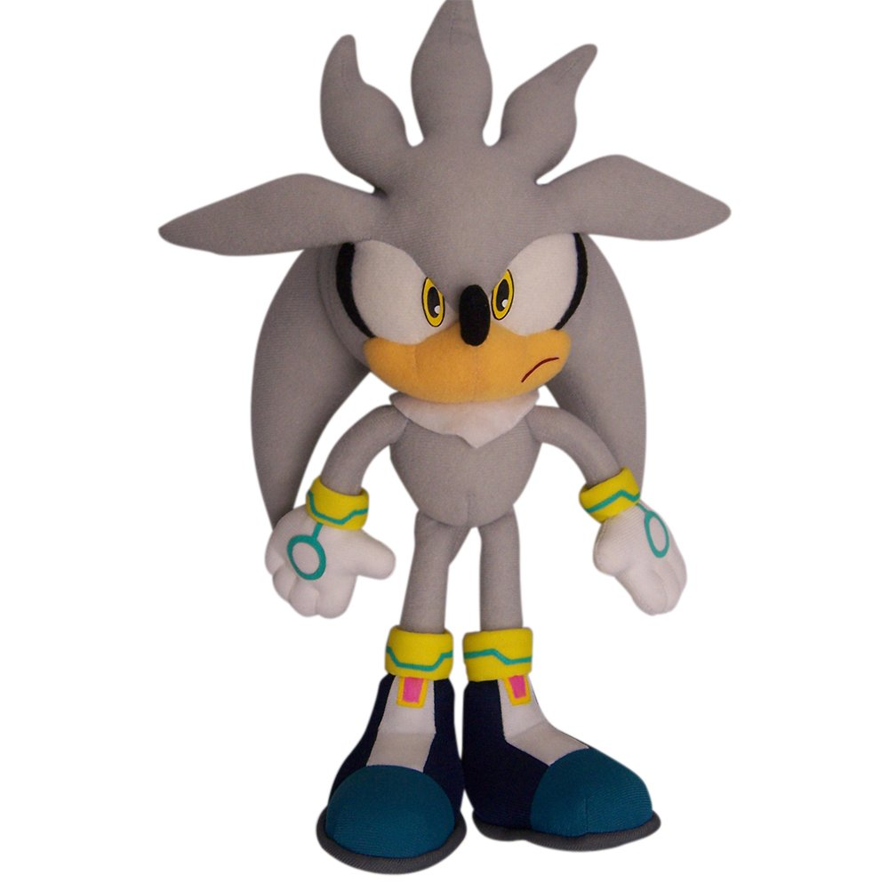 "Great Eastern GE-8960 Sonic The Hedgehog 13"" Plush Doll, Silver"