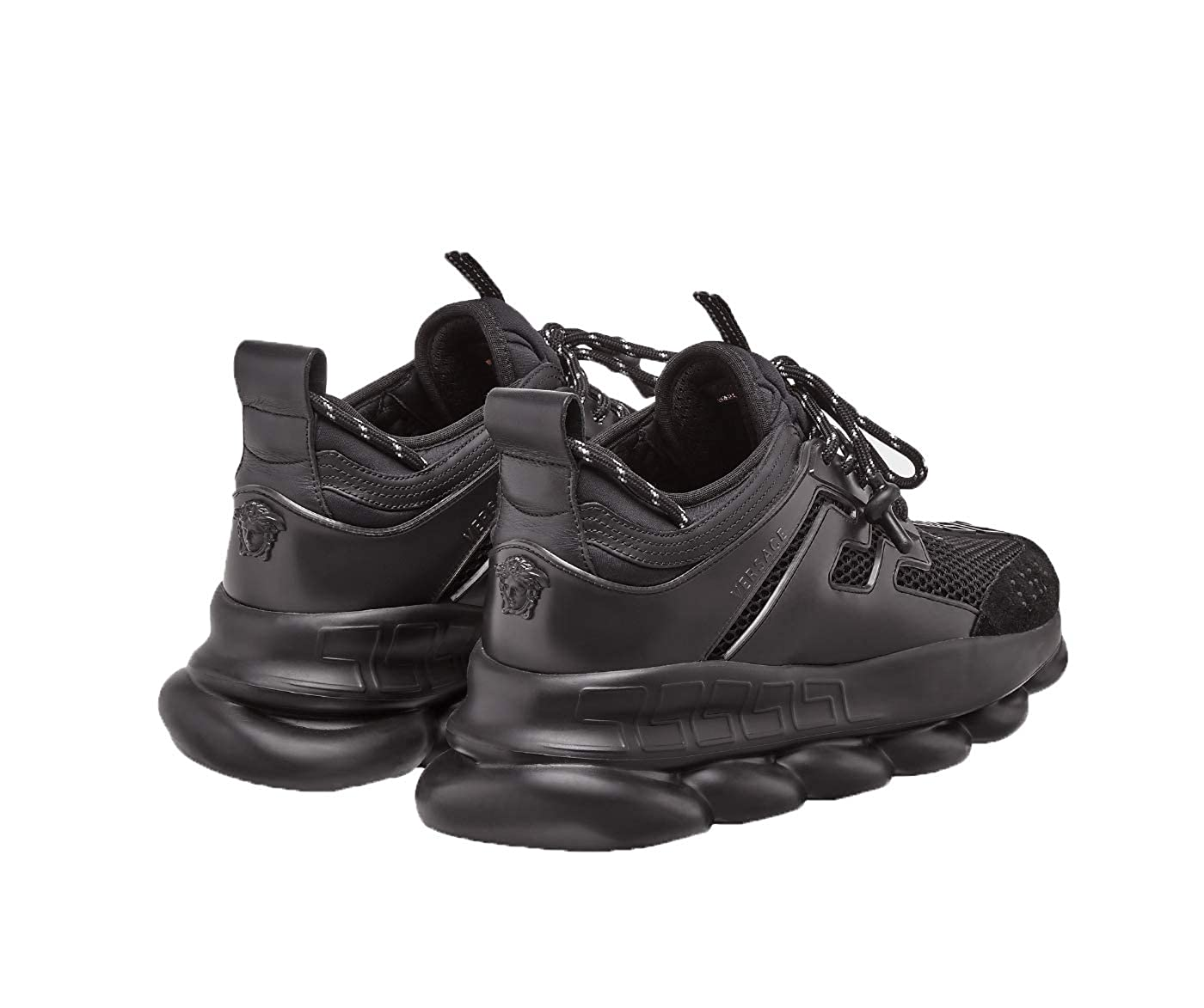 6c05d157 Amazon.com: Versace Men's Black Chain Reactions Fashion Sneakers Shoes US  13 IT 46: Shoes