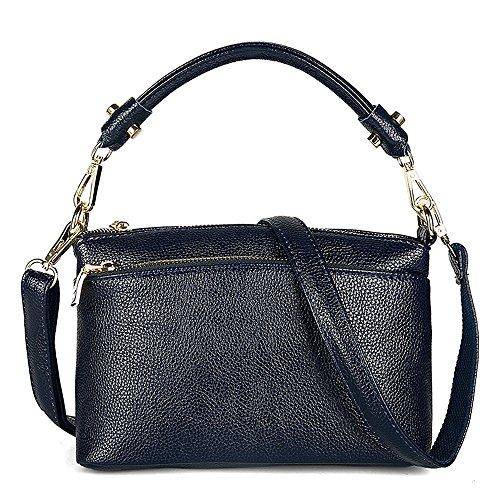 Womens Small Genuine Leather Top Handle Crossbody Purse Handbags Satchel Shoulder Bag ()