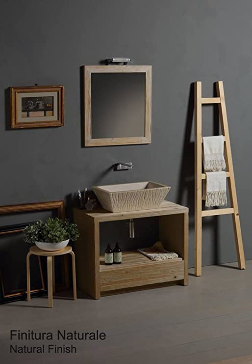 Horganica Mueble de baño Rectangular de Madera con cómoda Ideal para Drenaje 90 x 48 cm: Amazon.es: Hogar