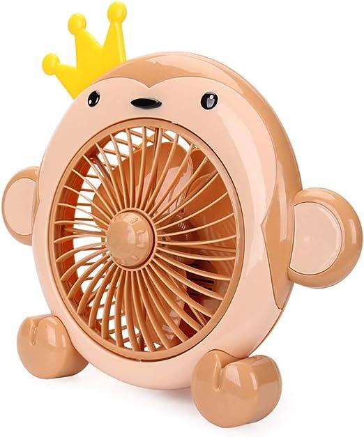 Ventilador de escritorio para niños Ventilador de dibujos animados para niños Ventilador de escritorio para niños en el hogar ventilador eléctrico dormitorio para ...