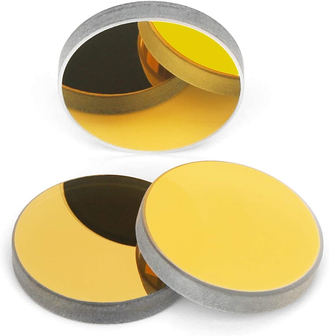 3Pcs Si Mirror Silicon Reflection 20mm Gold for 30W-200W CO2 Laser Engraver