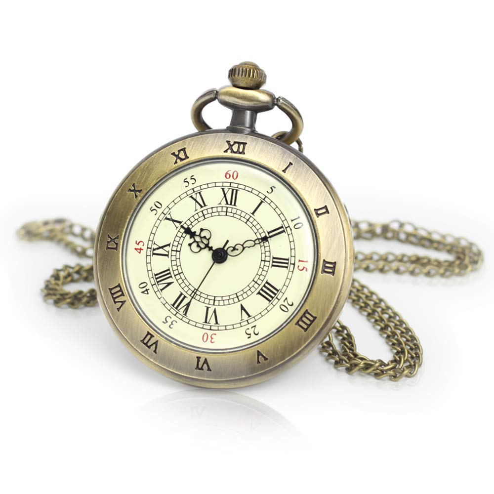 Open Face Pocket Watches for Me Bronze Roman Numerals Pocket Watches by Besfurniture