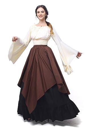 Nuoqi Mujeres Renacimiento Medieval Victoriana Reina Traje De ...