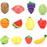 VFunix ままごと フルーツ 16点セット まな板 包丁付き きれる果物 子ども用 食べ物 ごっこ遊び