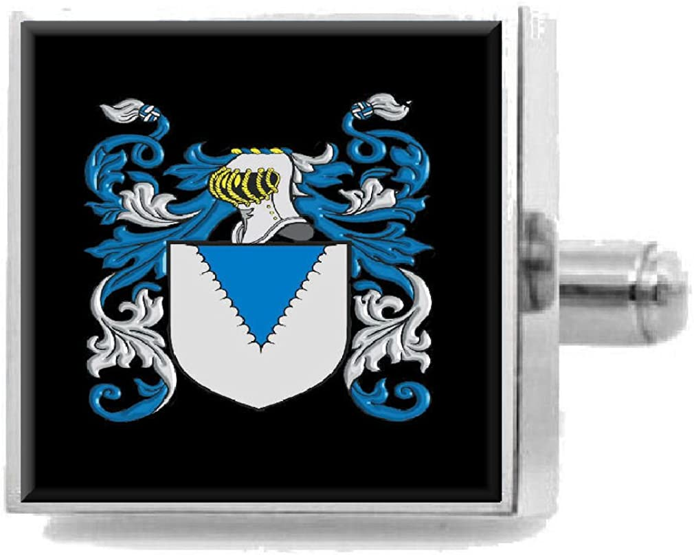 Select Gifts Carter England Heraldry Crest Sterling Silver Cufflinks Engraved Message Box