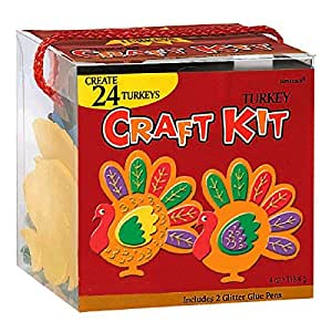 Festive Fall Thanksgiving Party Turkey Craft Kit