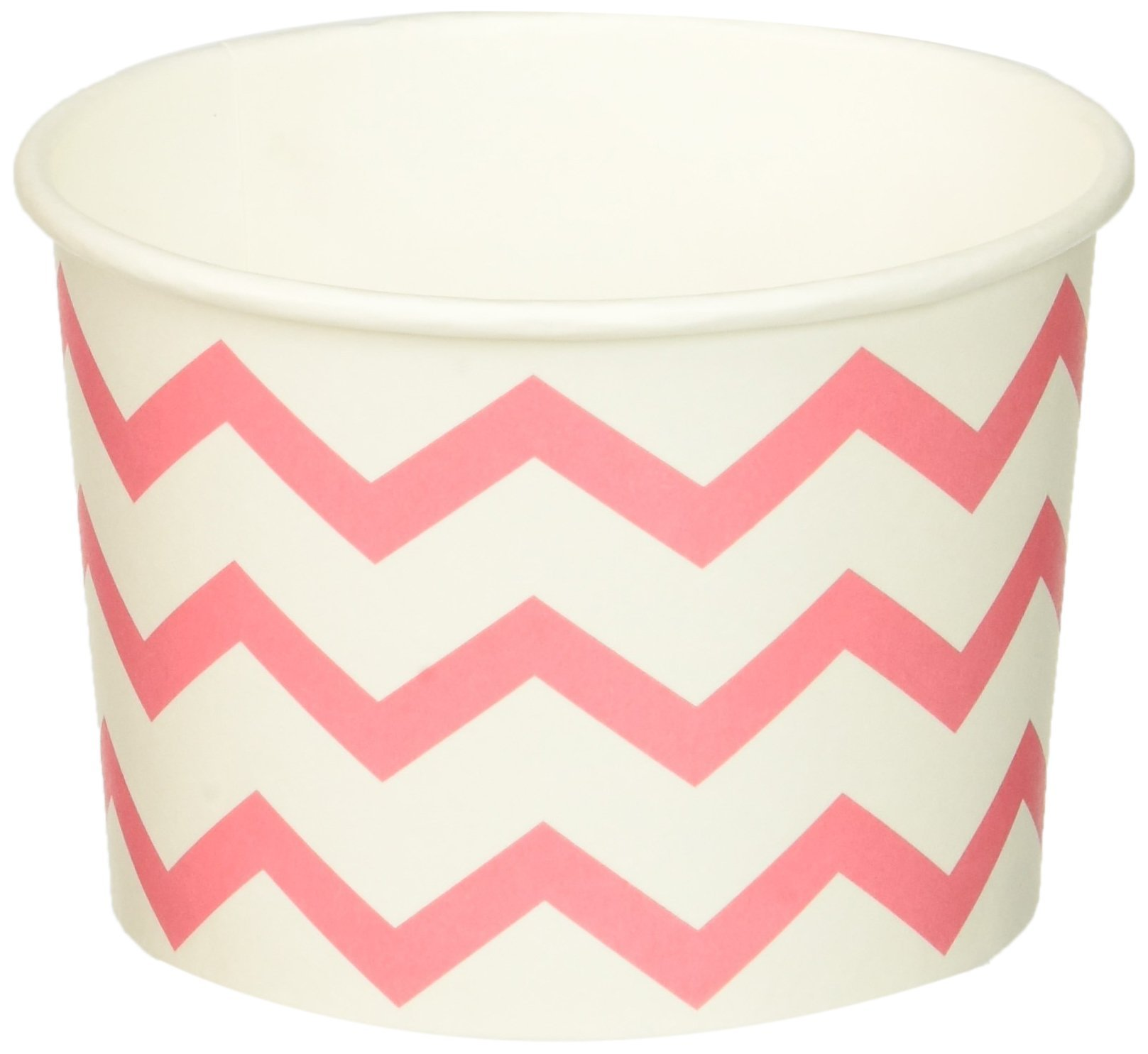 Creative Converting 72 Count Treat Cups, Chevron Candy Pink