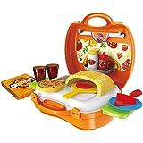 smartcraft Kids 22-Piece Plastic Bring Along Pizza Oven Suitcase Set (Multicolour)