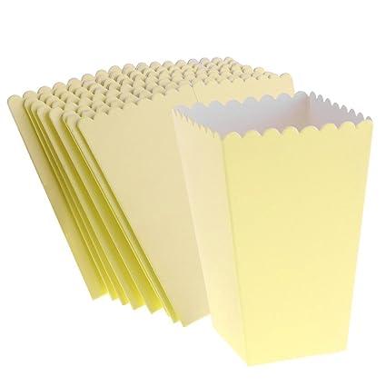 Jaune Boîtes de en Pièces Popcorn Sharplace 8 Cartons E29DHI