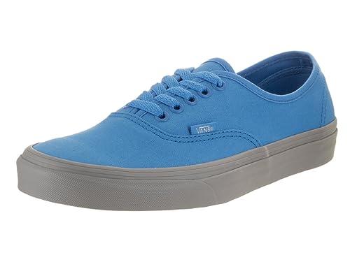 tenis vans grises con azul