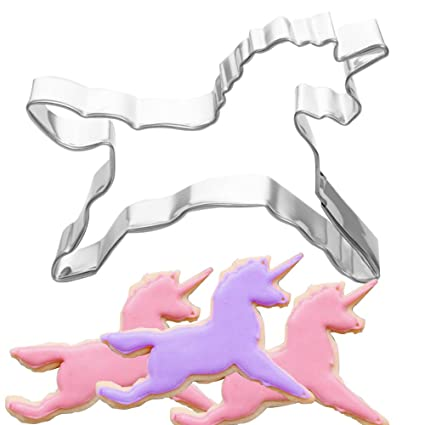 Molde cortador de galletas de unicornio para pasteles, galletas, pasteles, manualidades, decoración
