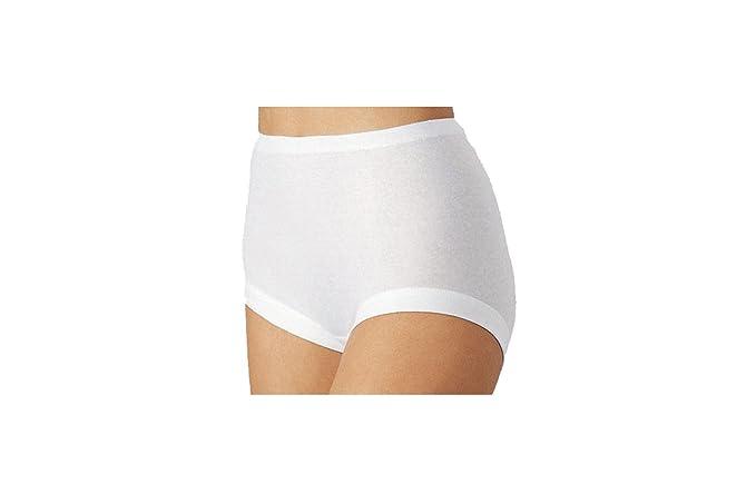 5 piezas Eslips Culottes ropa interior NELLY 100% algodón de color blanco tallas 38-