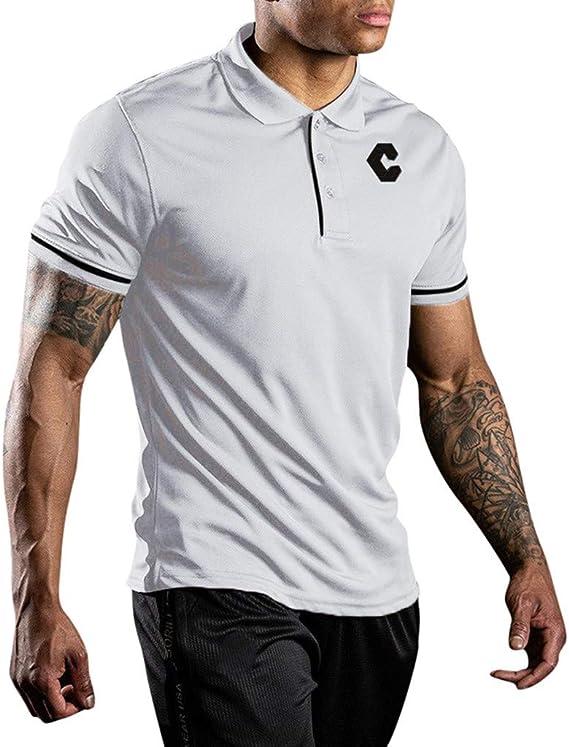 Sylar Hombre Camisa Polo Plana Manga Corta Camisetas Hombre ...