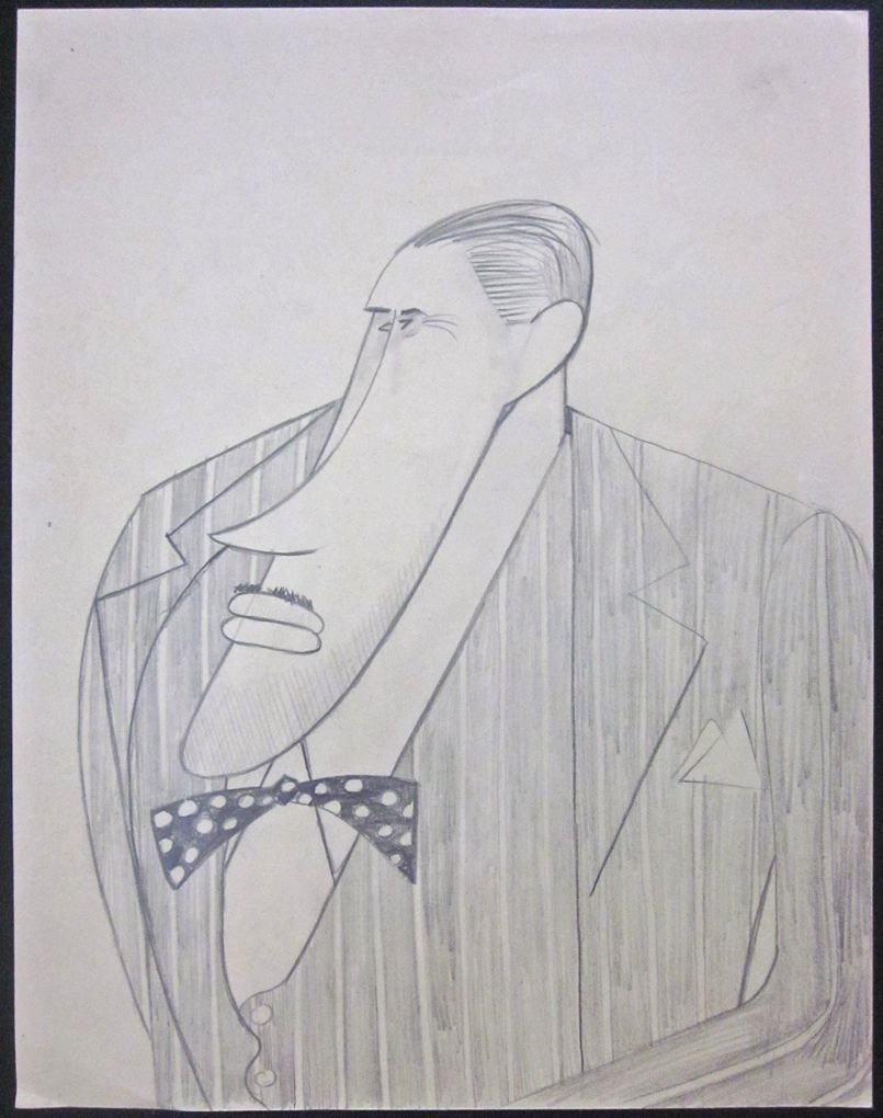 Cut 100 jack cutting c 1930s t hee caricature pencil drawing disney artist at amazons entertainment collectibles store