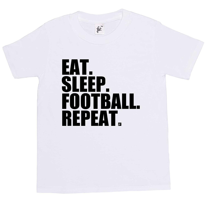 Fancy A Snuggle Eat. Sleep. Football. Repeat. Footy Kids Boys / Girls T- Shirt: Amazon.co.uk: Clothing