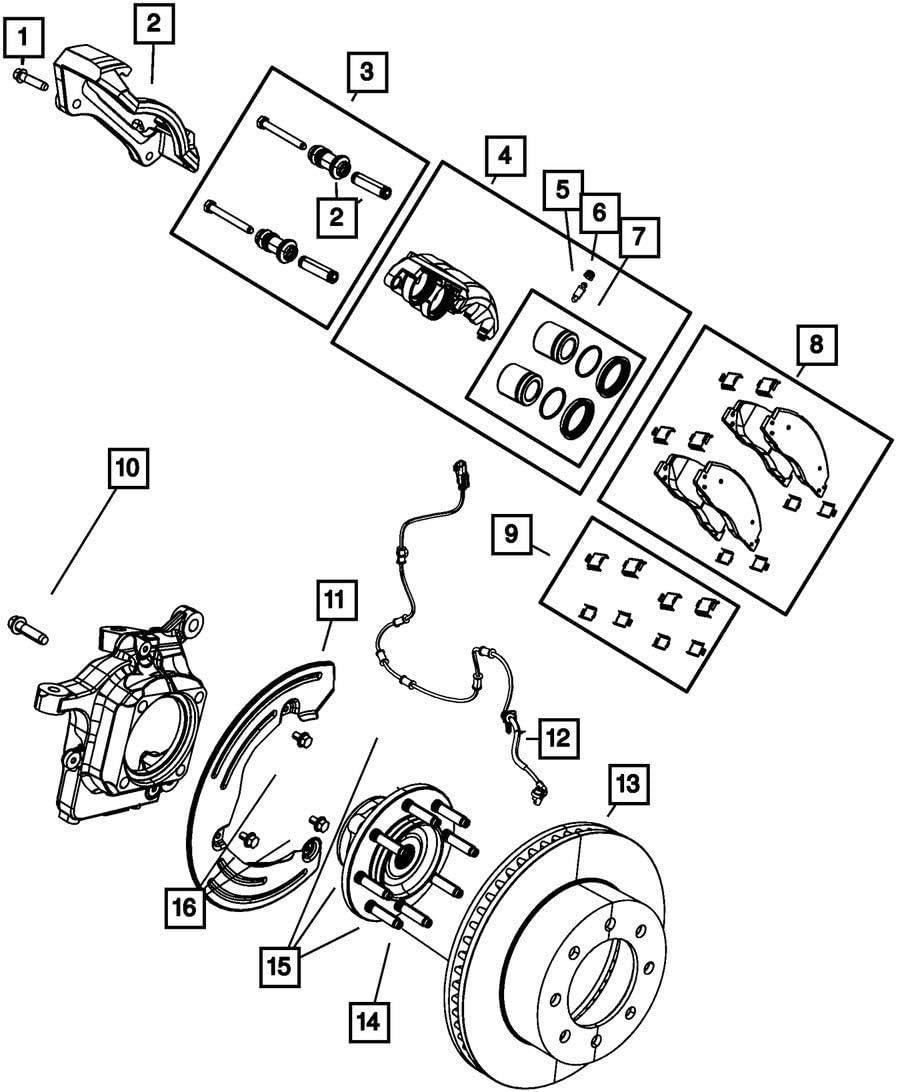 Mopar 6800 3706AA Disc Brake Caliper Guide Pin