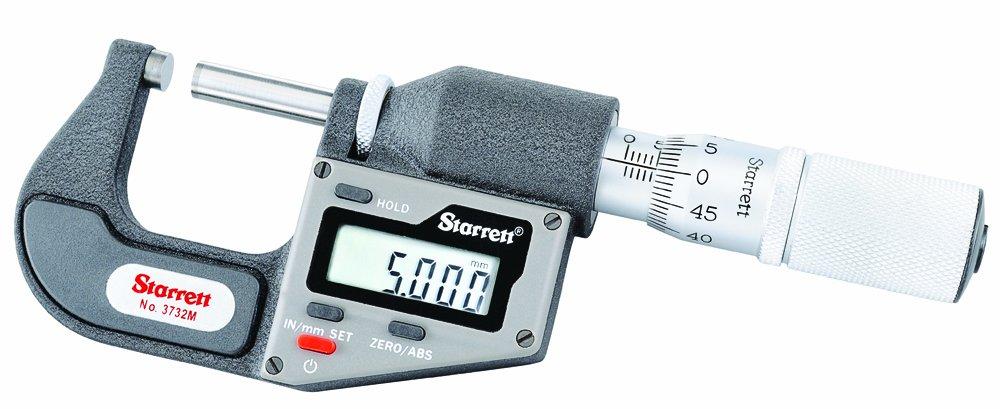 Starrett 3732MEXFL-25 - Nivel digitales   (pulgadas/metros sin salida de datos, 0-25 mm, 0,001 mm, 0,00005'') 00005' ' )
