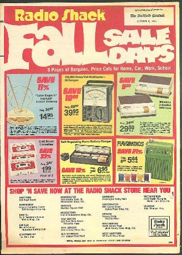Radio Shack Fall Sale newspaper circular 1975 walkie-talkie CB Radio 8-track