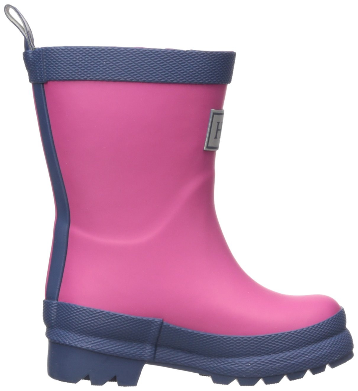 Hatley Kids' Classic Boots Girls Rain Accessory, Fuchsia Navy, 7 M US Toddler by Hatley (Image #10)