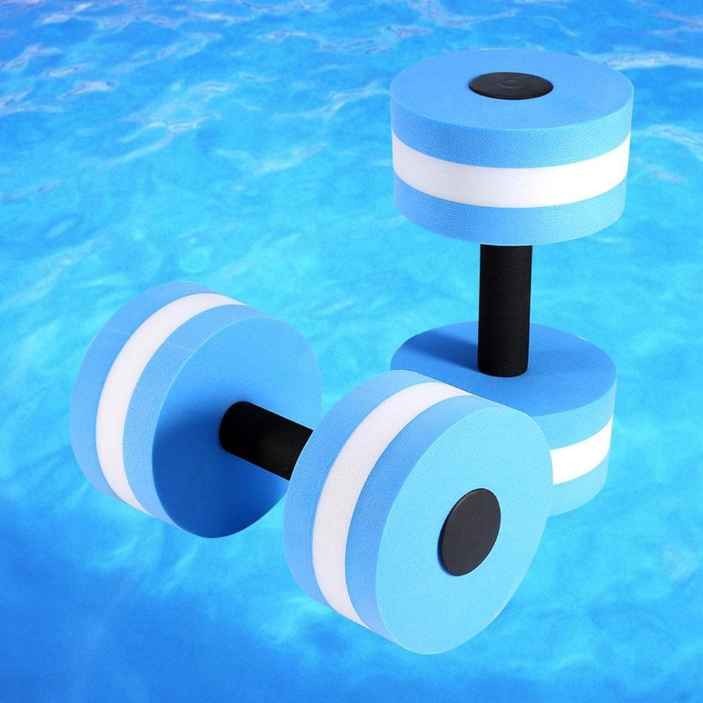 Ankamal Elec 2 ST/ÜCK Gym f/ür Gesundheit Schwimmbad Neue Art Mancuernas Dumbbells /Übung Fitness Medium Wasser Barbell Aqua Pool Sportger/äte Hanteln