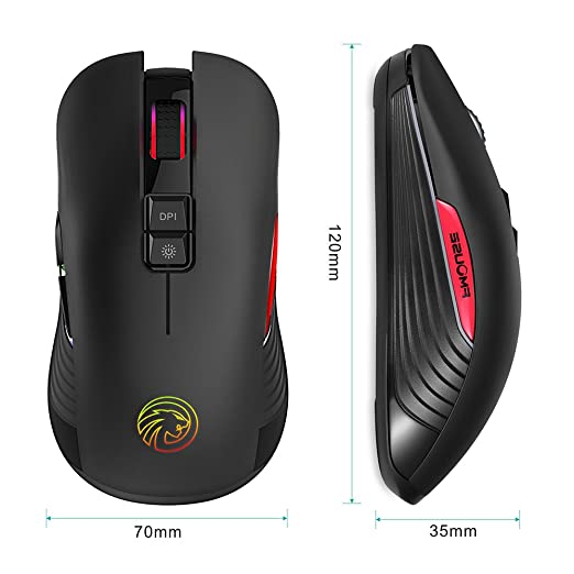 Best Rechargeable Silent Mouse: TENMOS M600 Optical LED 7 DPI