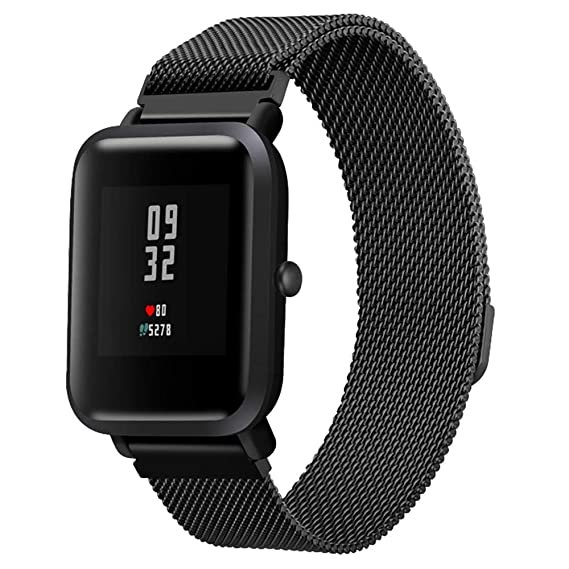 Amazon.com: Stainless Steel Bracelet Watch Band Strap for Xiaomi Amazfit Bip Youth Watch BK: Clothing