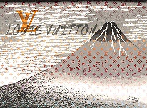 Mt. Fuji 富士山 ルイヴィトン ポップアートポスター #sh58 A1サイズ(594×841mm) カラー sh58c B07519KK5Nsh58c A1(594×841mm)