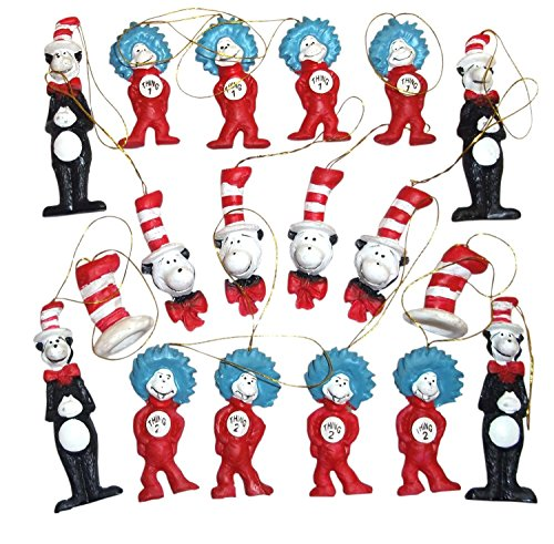 Dr. Seuss The Cat in the Hat Figurine Ornaments, Set of 18 ()
