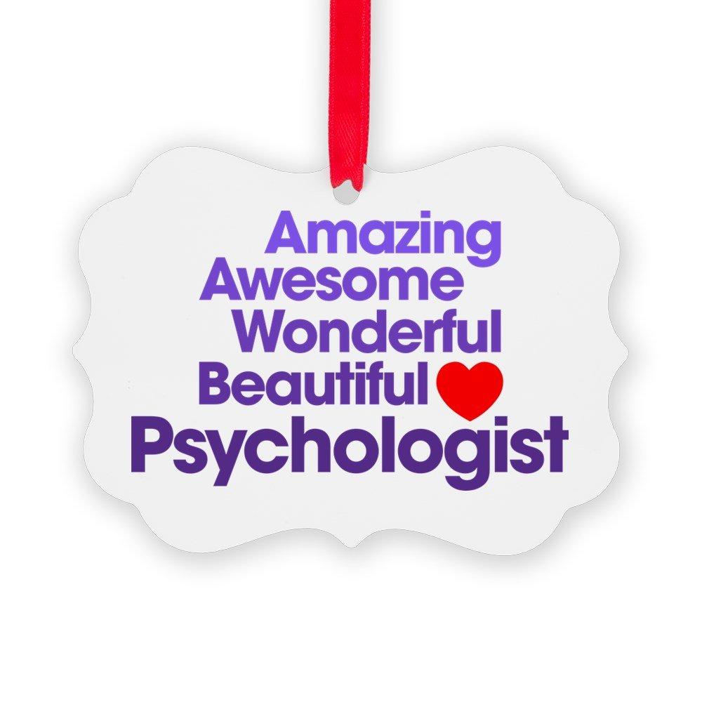CafePress - Amazing Awesome Wonderful Beautiful Psychologist O - Christmas Ornament, Decorative Tree Ornament