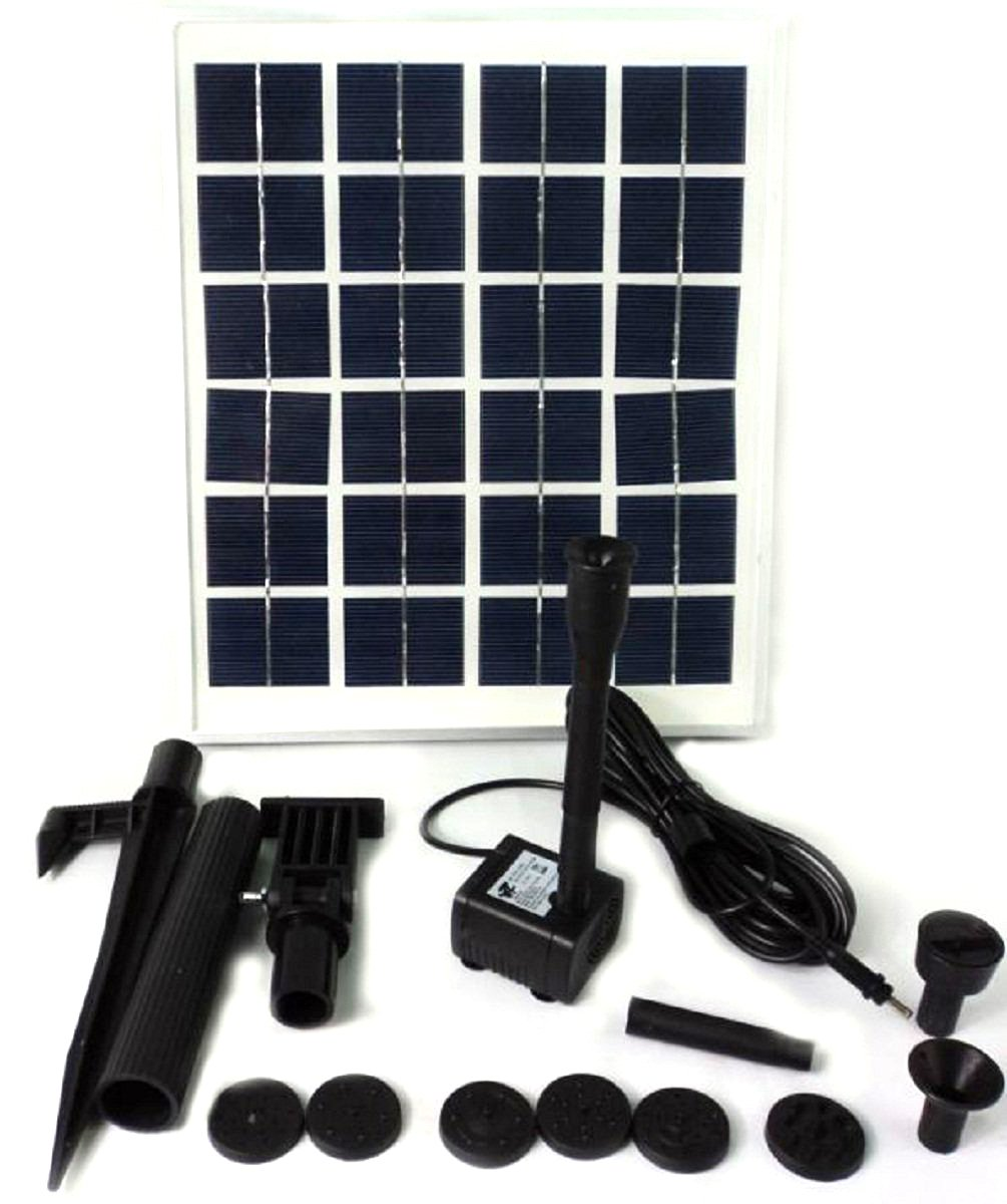 HSH-Flo New 15W Solar Power Outdoor Fountain Water Pump Kit Submersible Pond Pool